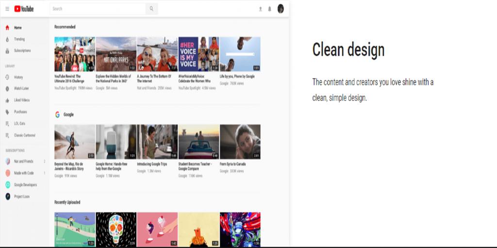 clean desing